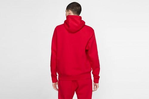 Sudadera Nike Sportswear Club Fleece Roja