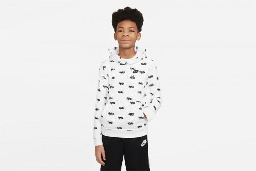 Sudadera Nike Sportwear Script Blanca