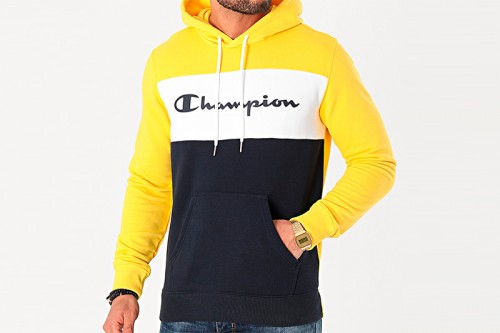 Sudadera Champion Hooded Sweatshirt amarilla