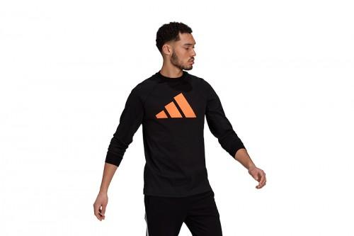 Camiseta adidas M FI Crew Q2 Negra