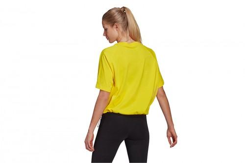 Camiseta adidas SPORTSWEAR ADJUSTABLE BADGE OF SPORT amarilla