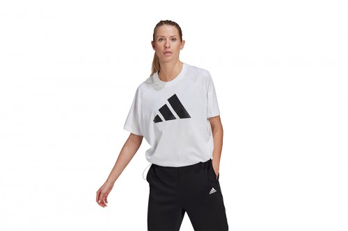 Camiseta adidas SPORTSWEAR ADJUSTABLE BADGE OF SPORT Blanca