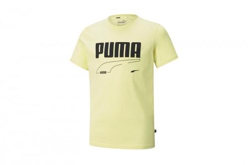 Camiseta Puma Rebel B amarilla