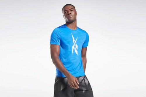 Camiseta Reebok Workout Ready Activchill Azul