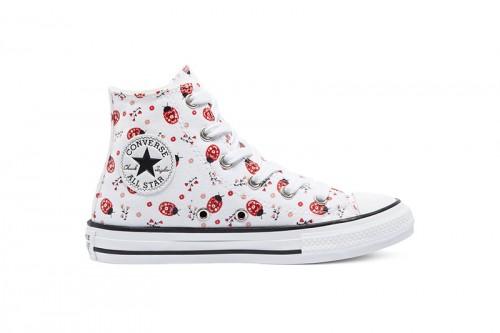 Zapatillas Converse CTAS HI WHITE/RED/WHITE/RED/BLACK Blancas
