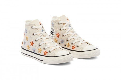 Zapatillas Converse Spring Flowers Chuck Taylor All Star High Top Beiges