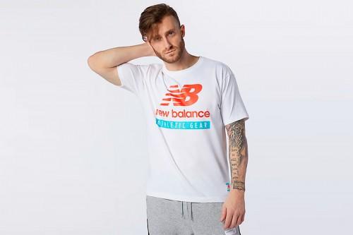 Camiseta New Balance Essentials Logo Blancas