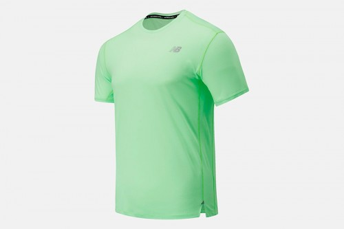 Camiseta New Balance Impact Run Short Sleeve verde