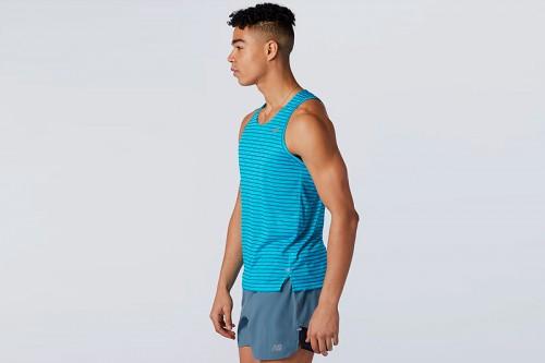 Camiseta New Balance Printed Impact Run Singlet azul