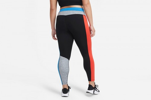 Mallas Nike One Color-Blocked 7/8 Negras