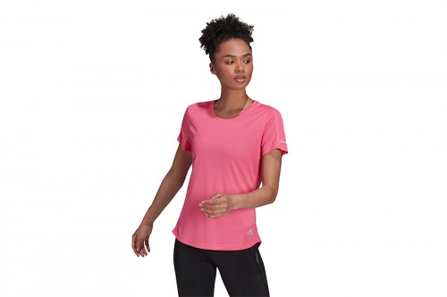 Camiseta adidas RUN IT TEE Rosa