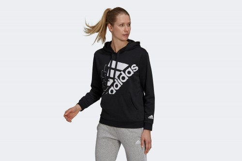 Sudadera adidas LOVE SLANTED LOGO RELAXED Negra