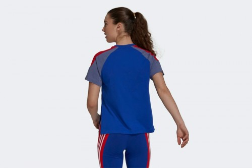 Camiseta adidas SPORTSWEAR COLORBLOCK Azul