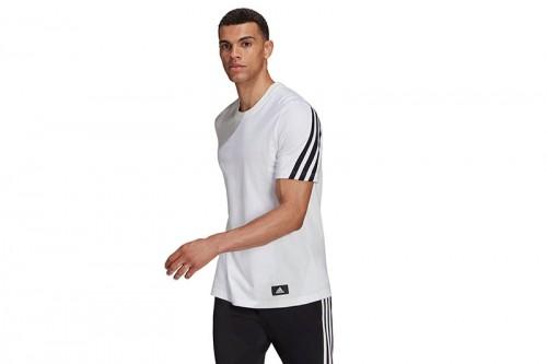 Camiseta adidas SPORTSWEAR FUTURE ICONS 3 BANDAS Blanca