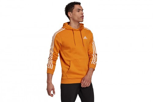 Sudadera adidas ESSENTIALS FLEECE 3-STRIPES naranja